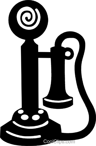 early telephone Royalty Free Vector Clip Art illustration vc028898