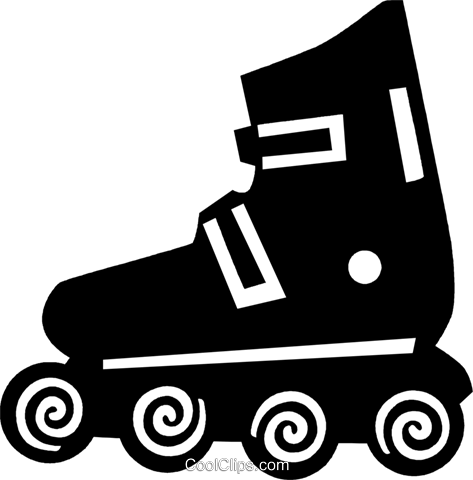 roller blades Royalty Free Vector Clip Art illustration vc028905