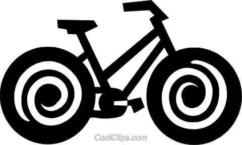 bicycle Royalty Free Vector Clip Art illustration vc028907