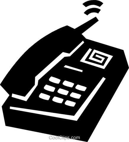 office phone Royalty Free Vector Clip Art illustration vc028910