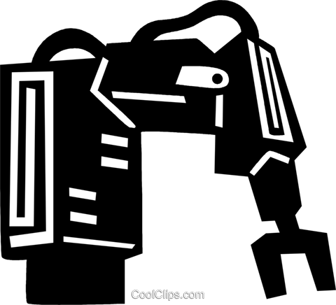 robotic arm Royalty Free Vector Clip Art illustration vc028911