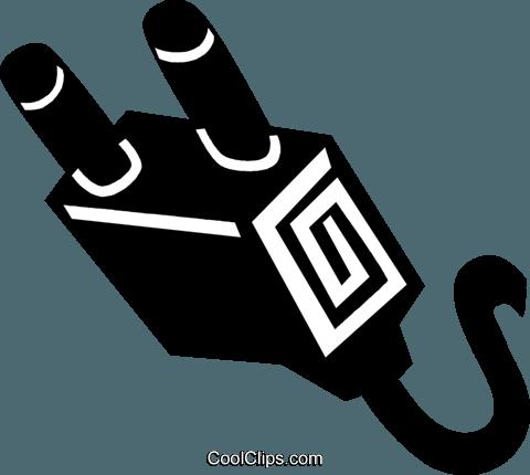 Electric Plug Royalty Free Vector Clip Art Illustration Vc028924