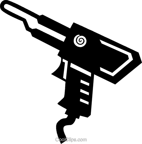 soldering gun Royalty Free Vector Clip Art illustration vc028929