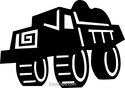 dump truck Royalty Free Vector Clip Art illustration vc028932