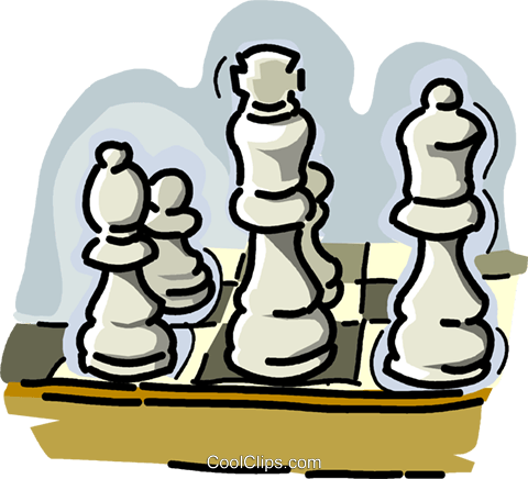 chess pieces Royalty Free Vector Clip Art illustration vc028940