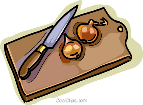 cutting board Royalty Free Vector Clip Art illustration vc028947
