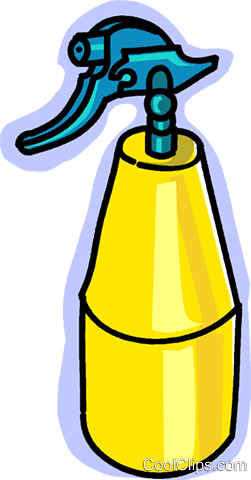 spray bottles Royalty Free Vector Clip Art illustration vc028959