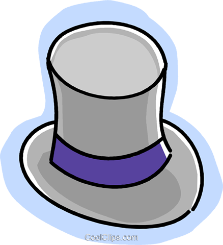 top hat Royalty Free Vector Clip Art illustration vc028966