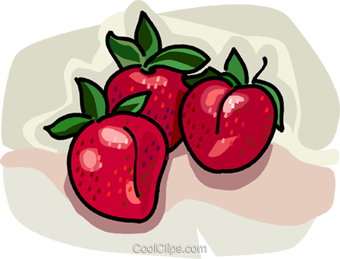Whole strawberries Royalty Free Vector Clip Art illustration vc028968