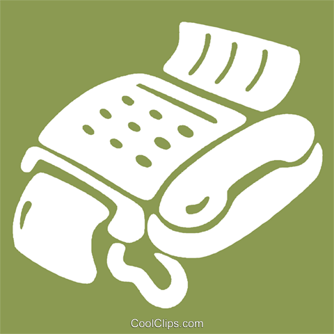 fax machines Royalty Free Vector Clip Art illustration vc028994
