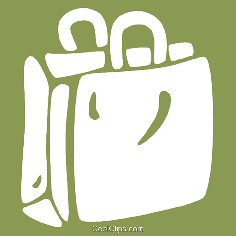 shopping bag Royalty Free Vector Clip Art illustration vc029002