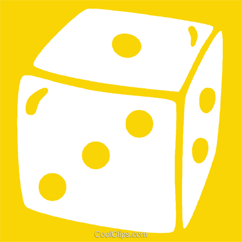 dice Royalty Free Vector Clip Art illustration vc029015