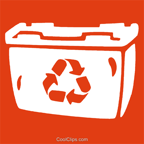 recycle bin Royalty Free Vector Clip Art illustration vc029021
