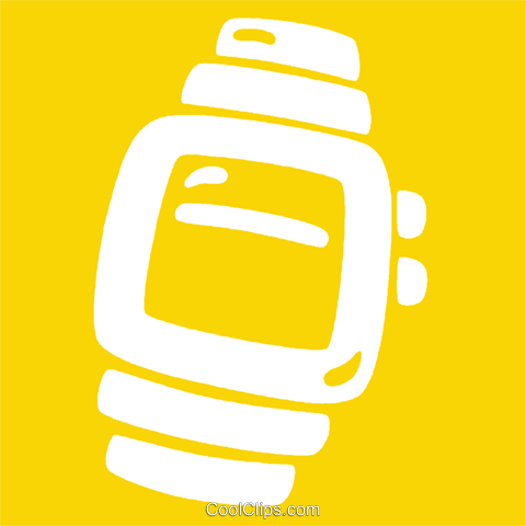 wrist watches Royalty Free Vector Clip Art illustration vc029023