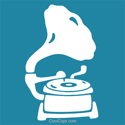 phonograph Royalty Free Vector Clip Art illustration vc029044