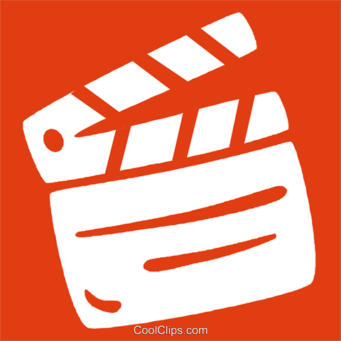 clapboard Royalty Free Vector Clip Art illustration vc029045