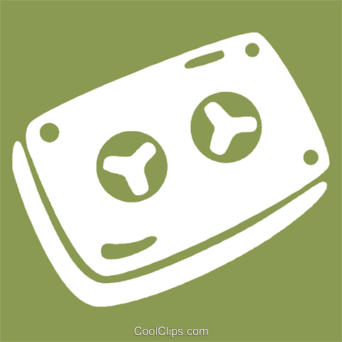tape cassette Royalty Free Vector Clip Art illustration vc029050