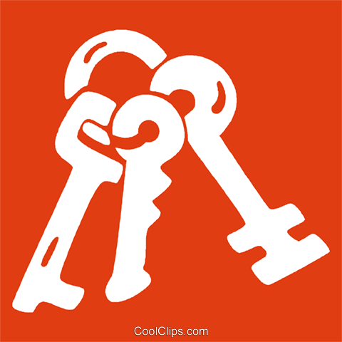 skeleton keys Royalty Free Vector Clip Art illustration vc029069