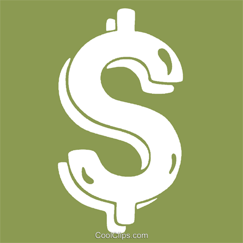 dollar sign Royalty Free Vector Clip Art illustration vc029074