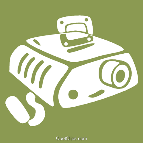 slide projector Royalty Free Vector Clip Art illustration vc029110