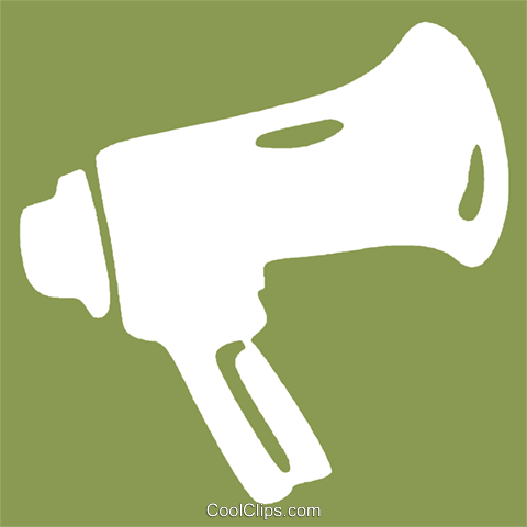 megaphone Royalty Free Vector Clip Art illustration vc029118