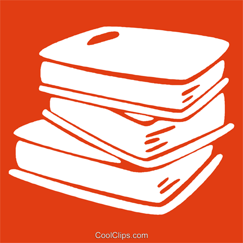 stack of books Royalty Free Vector Clip Art illustration vc029121
