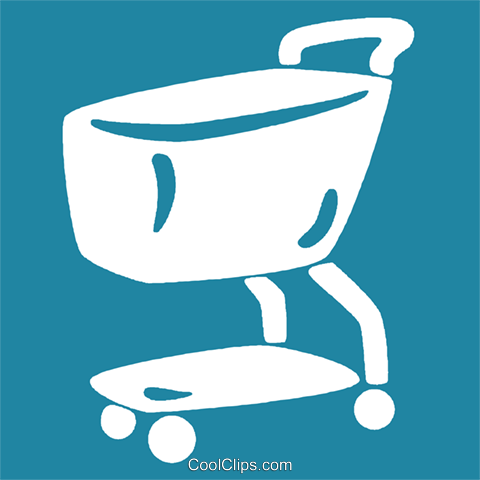 grocery carts Royalty Free Vector Clip Art illustration vc029148