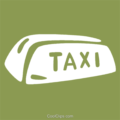 taxi sign Royalty Free Vector Clip Art illustration vc029154