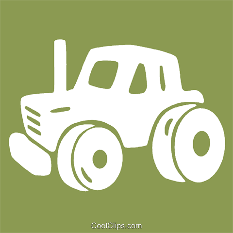 tractor Royalty Free Vector Clip Art illustration vc029161
