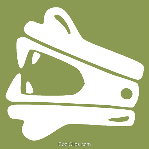 staple remover Royalty Free Vector Clip Art illustration vc029165