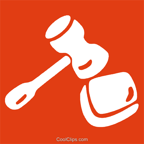 gavel Royalty Free Vector Clip Art illustration vc029166