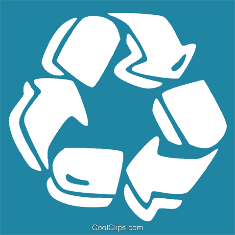 recycle symbol Royalty Free Vector Clip Art illustration vc029176