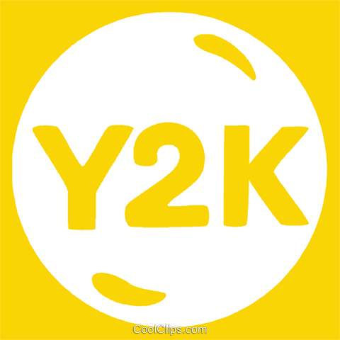 Y2K button Royalty Free Vector Clip Art illustration vc029199