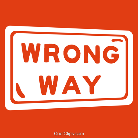 road sign, wrong way Royalty Free Vector Clip Art illustration vc029222