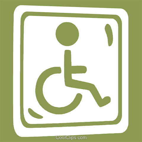 handicap sign Royalty Free Vector Clip Art illustration vc029249