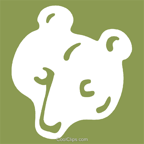 bear Royalty Free Vector Clip Art illustration vc029261