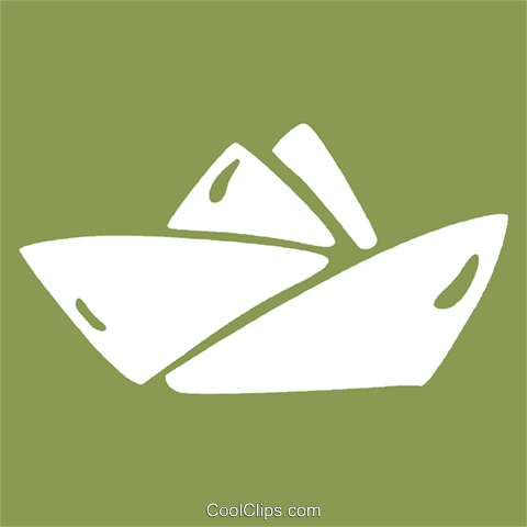 paper boat Royalty Free Vector Clip Art illustration vc029269