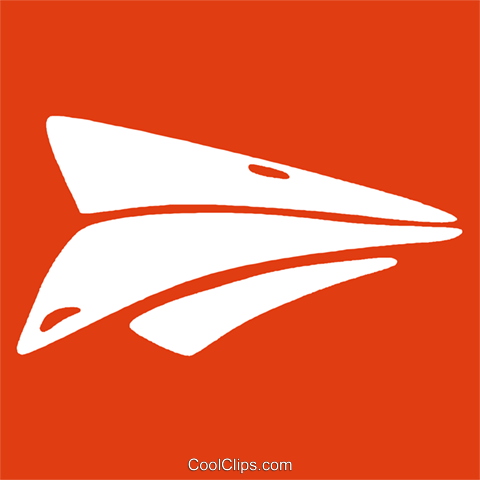paper airplane Royalty Free Vector Clip Art illustration vc029270