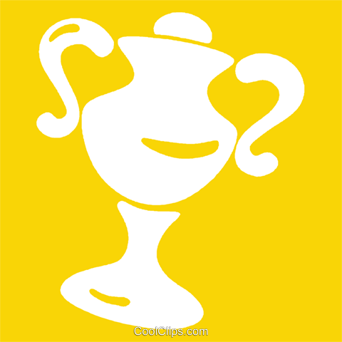 trophy Royalty Free Vector Clip Art illustration vc029279