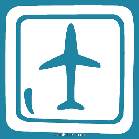 airport sign Royalty Free Vector Clip Art illustration vc029280
