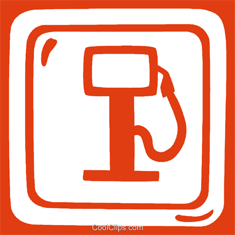gas sign Royalty Free Vector Clip Art illustration vc029282