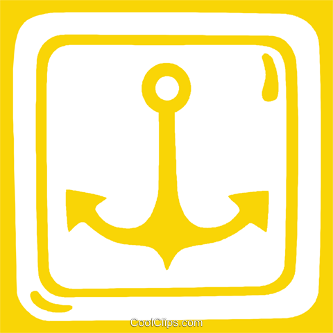 anchor sign Royalty Free Vector Clip Art illustration vc029283
