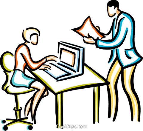 businessman/businesswomen Royalty Free Vector Clip Art illustration vc029393