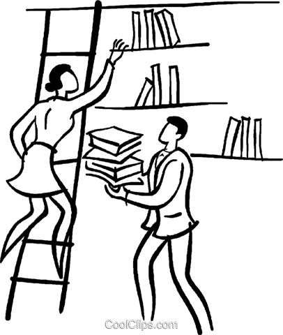 libraries Royalty Free Vector Clip Art illustration vc029398