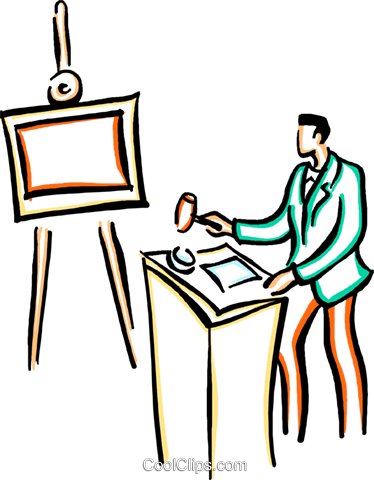 art dealer Royalty Free Vector Clip Art illustration vc029401