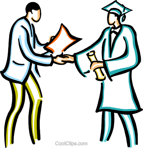 graduation day Royalty Free Vector Clip Art illustration vc029445
