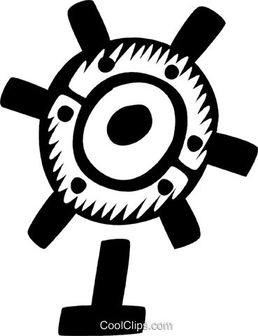 Captain's Wheel Vecteurs de stock et clip-Art vectoriel vc029476