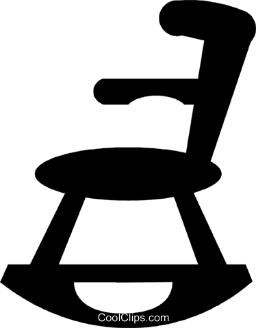 rocking chair Royalty Free Vector Clip Art illustration vc029572