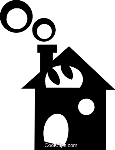 single family homes Royalty Free Vector Clip Art illustration vc029617
