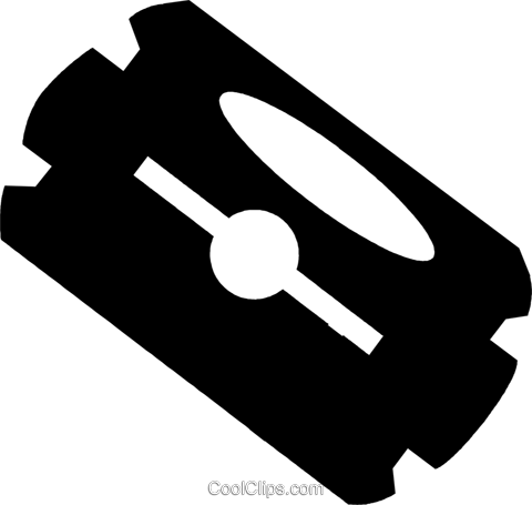 razor blade Royalty Free Vector Clip Art illustration vc029624